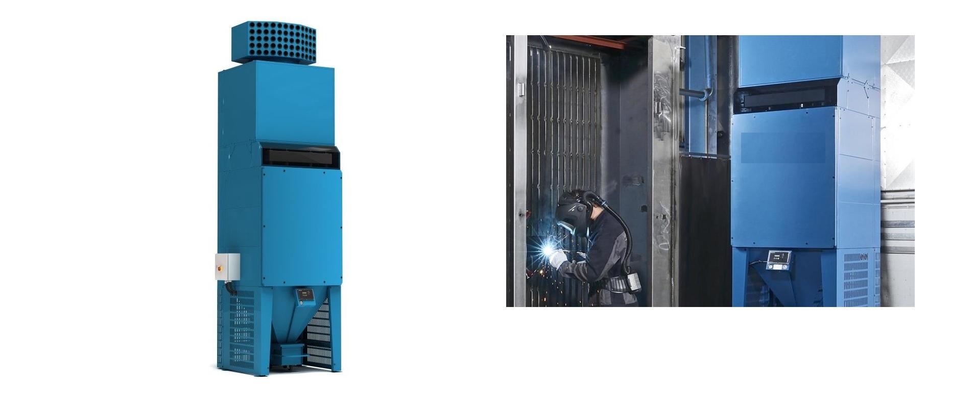 Filterturm für saubere Hallenluft – der MCP-16 RC Filterturm